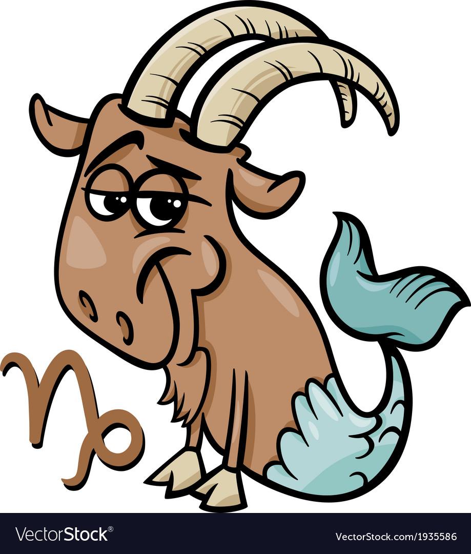 Capricorn or the sea goat zodiac sign vector | Price: 1 Credit (USD $1)