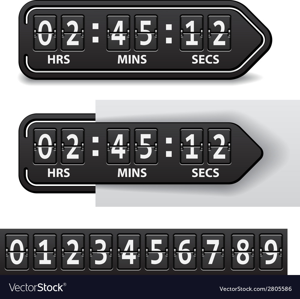 Countdown black mechanical timer vector | Price: 1 Credit (USD $1)