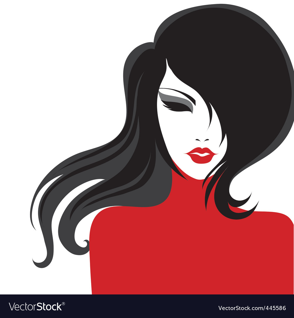 Girl portrait vector | Price: 1 Credit (USD $1)