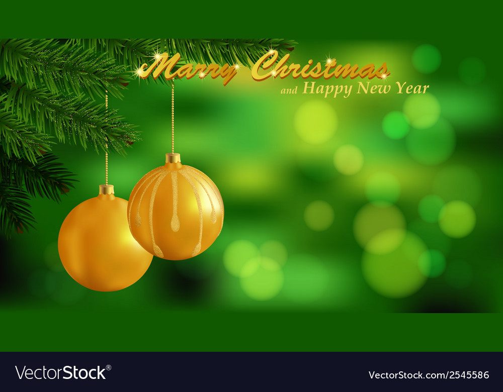 Marry christmas background vector | Price: 1 Credit (USD $1)
