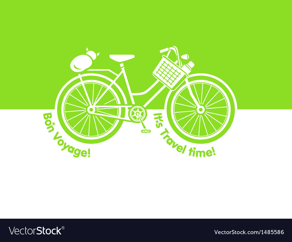Picnic bicycle vector | Price: 1 Credit (USD $1)