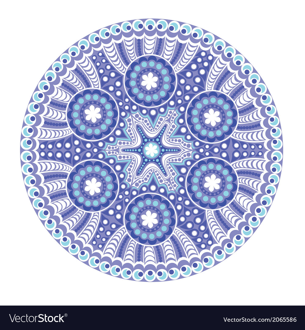 Round lace doily background for sewing arts crafts vector | Price: 1 Credit (USD $1)