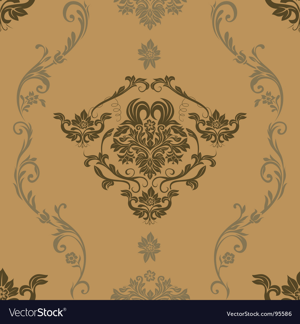 Vintage floral grunge seamless wallpaper vector | Price: 1 Credit (USD $1)