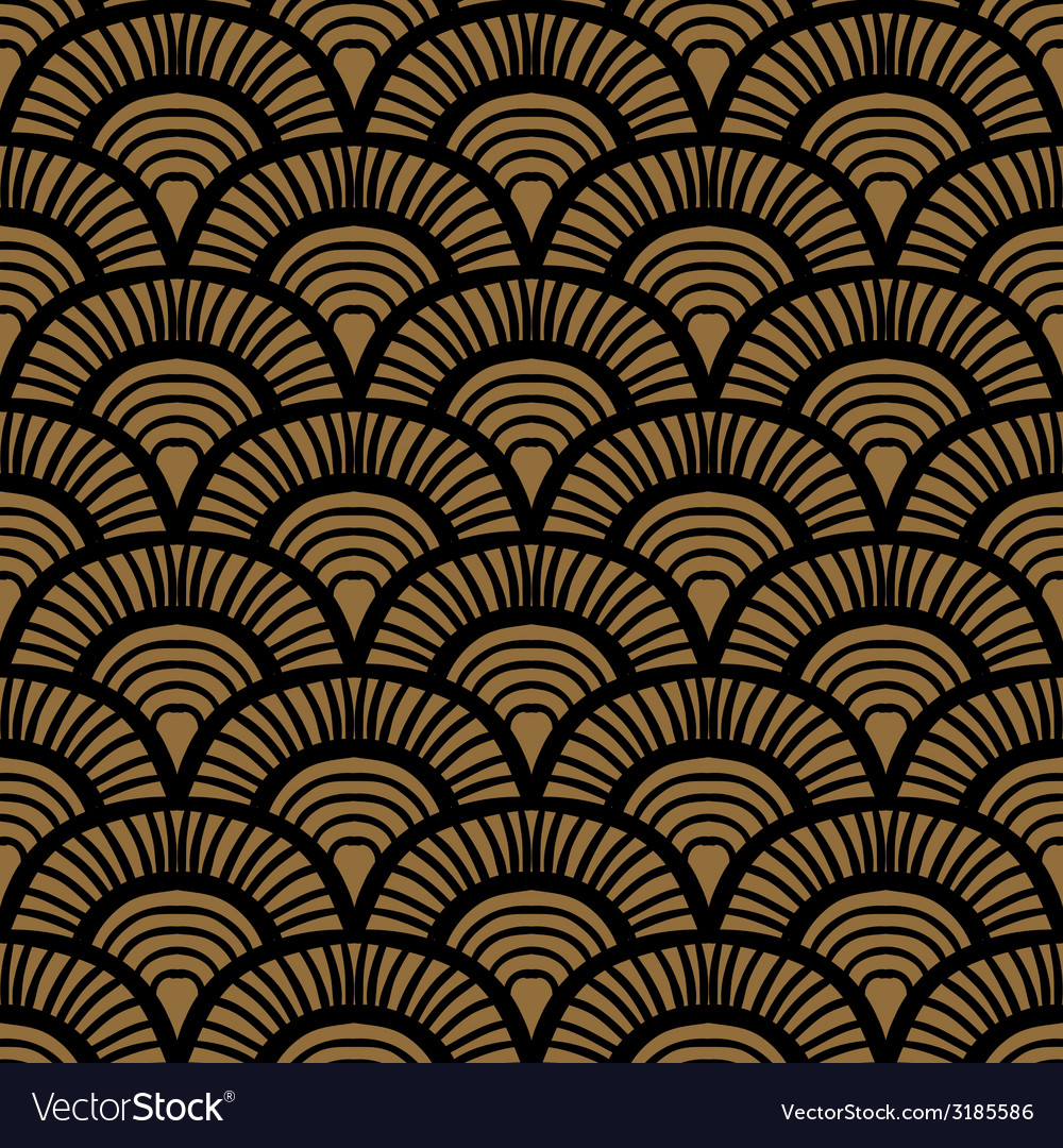 Vintage hand drawn art deco pattern vector | Price: 1 Credit (USD $1)