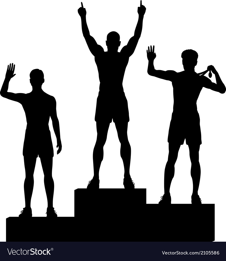 Winners podium vector
