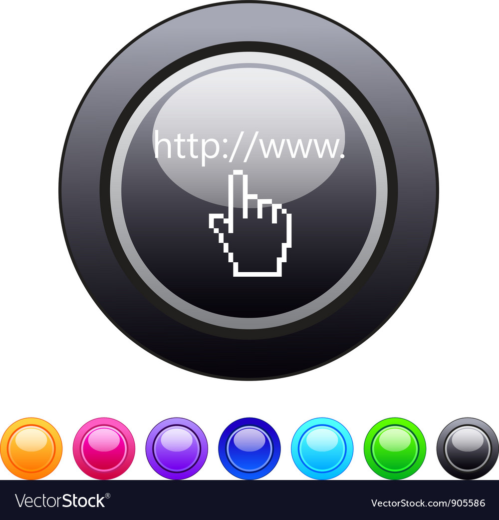 Www click circle button vector | Price: 1 Credit (USD $1)