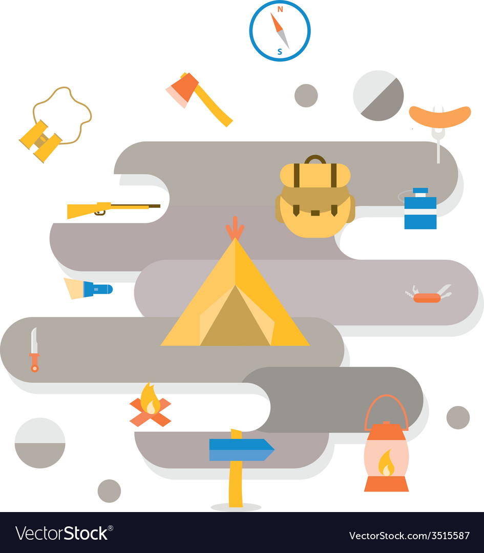 Adventure camping icon vector | Price: 1 Credit (USD $1)