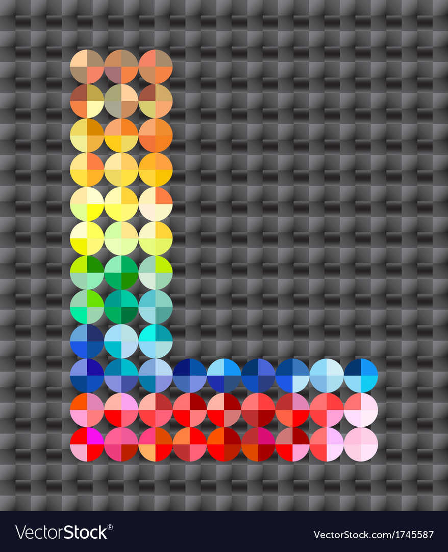 Alphabet of colorful mosaic vector | Price: 1 Credit (USD $1)