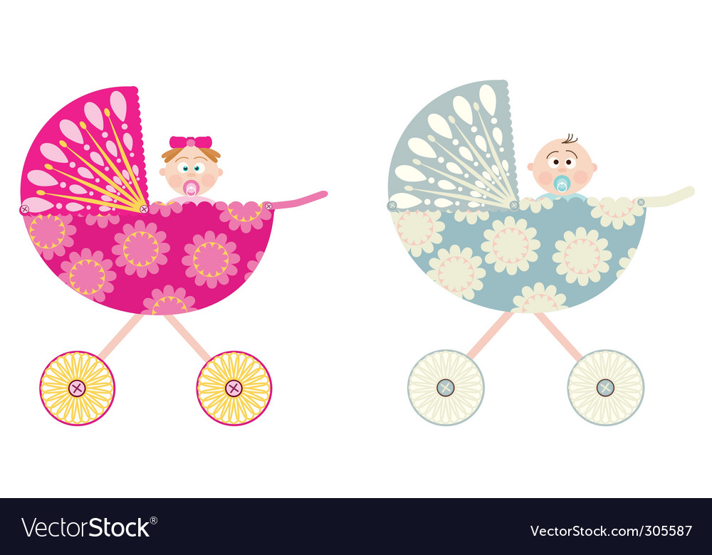 Baby strollers vector | Price: 1 Credit (USD $1)