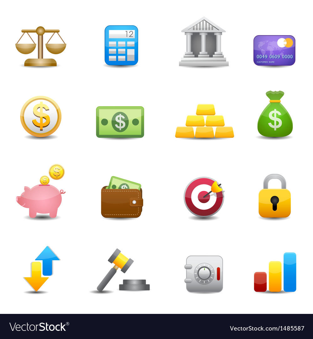 Business and finance money icons vector | Price: 3 Credit (USD $3)