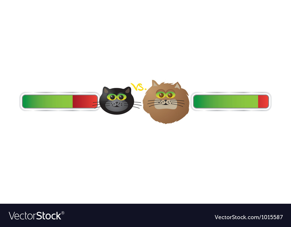 Cat battle vector | Price: 1 Credit (USD $1)