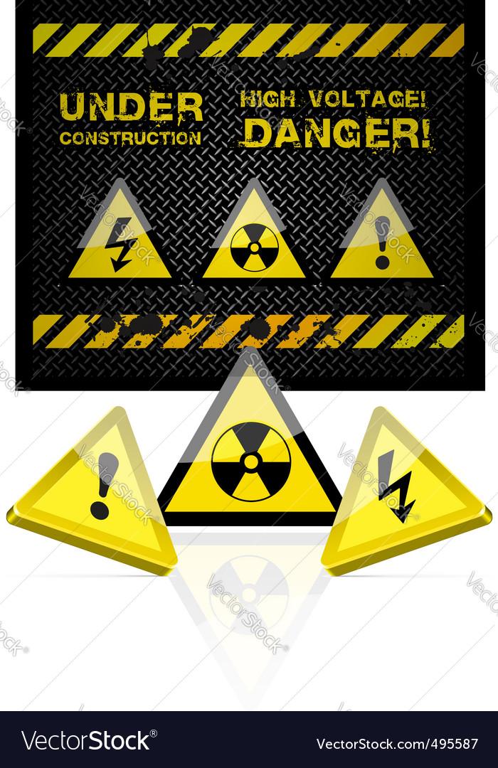 Danger grunge background vector | Price: 1 Credit (USD $1)