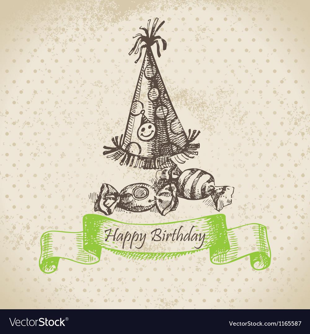 Happy birthday hand drawn vector | Price: 1 Credit (USD $1)