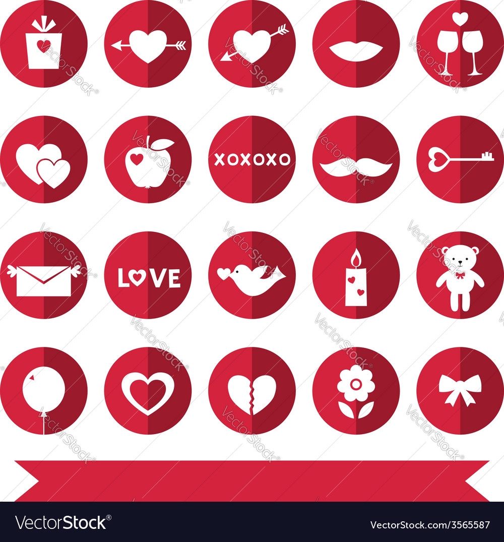Love icons set vector | Price: 1 Credit (USD $1)