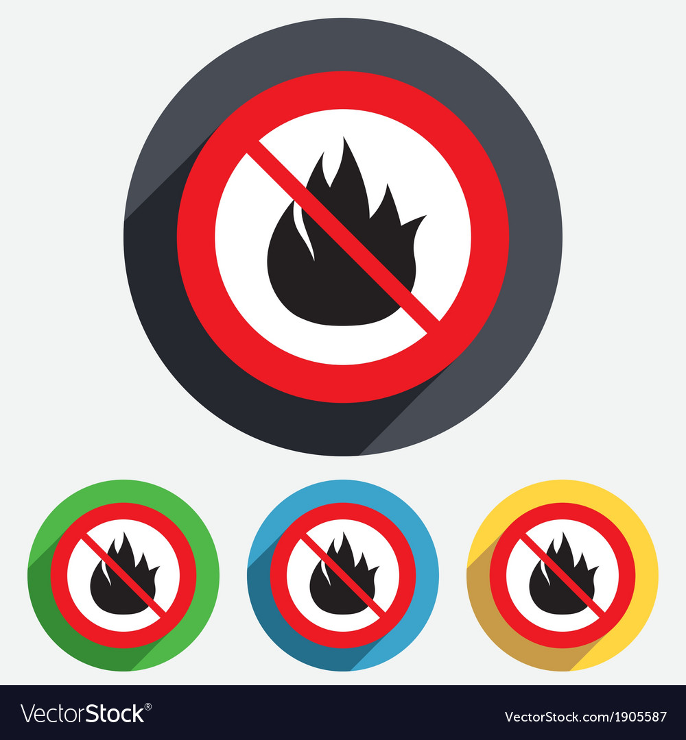 No fire flame sign icon fire symbol vector | Price: 1 Credit (USD $1)