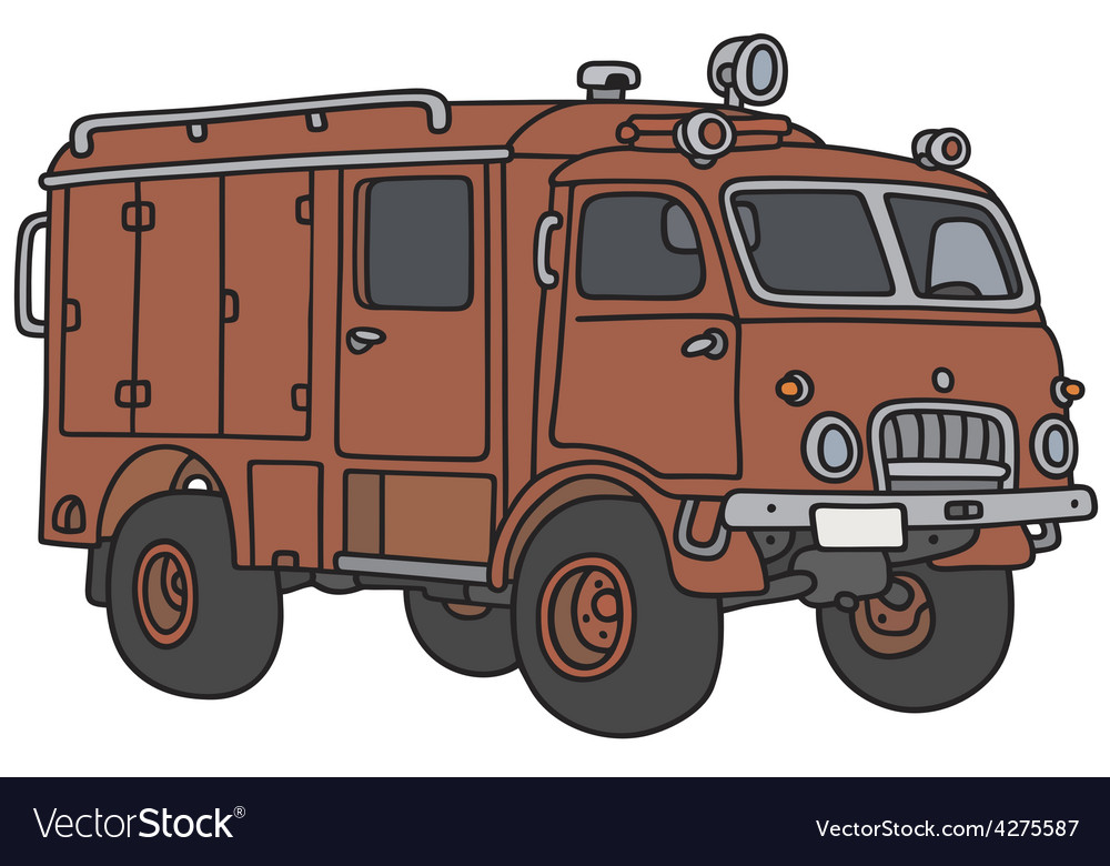 Old terrain fire truck vector | Price: 1 Credit (USD $1)
