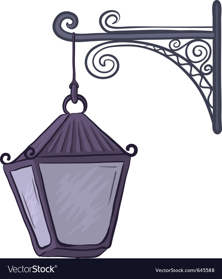Antique lantern vector | Price: 1 Credit (USD $1)