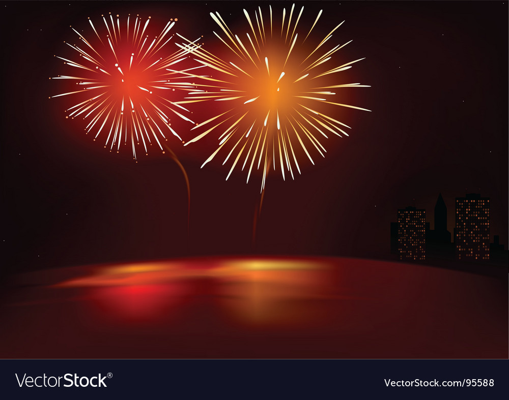 Fireworks red vector | Price: 1 Credit (USD $1)