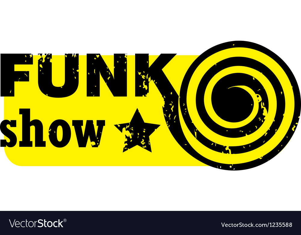 Funk show stamp vector | Price: 1 Credit (USD $1)