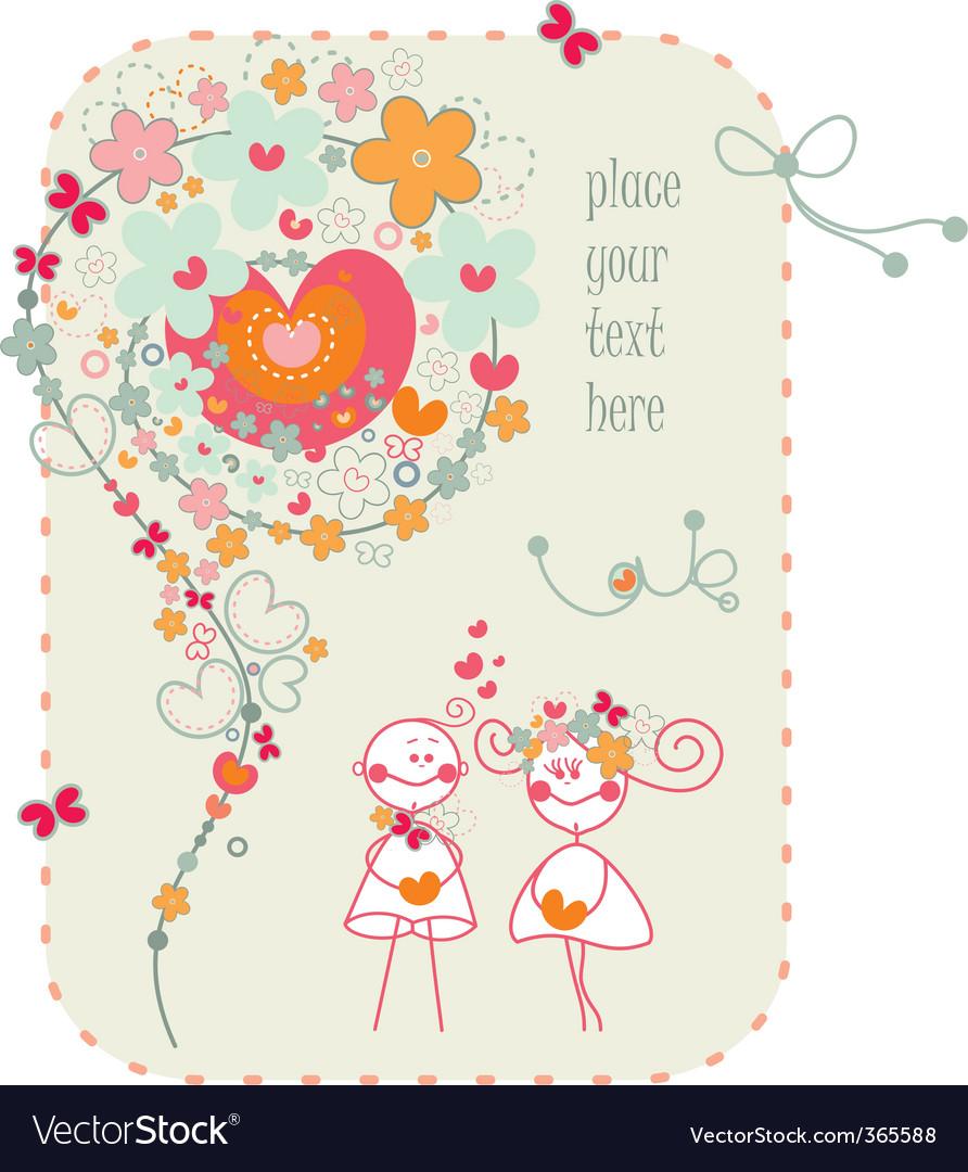 Valentine's card vector | Price: 1 Credit (USD $1)