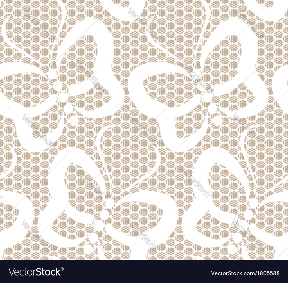 White butterflies seamless lace pattern vector   Price: 1 Credit (USD $1)