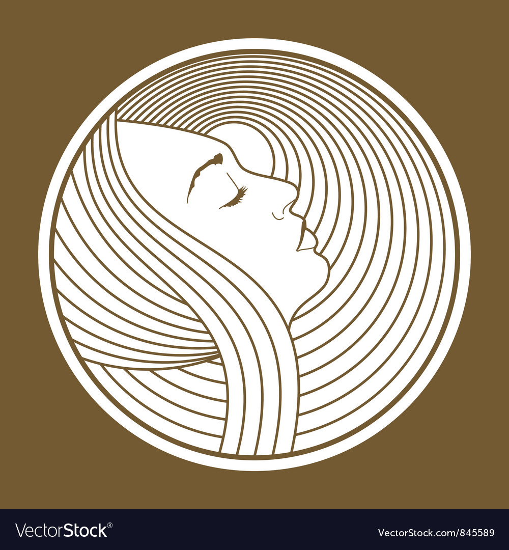 Art nouveau woman vector | Price: 1 Credit (USD $1)