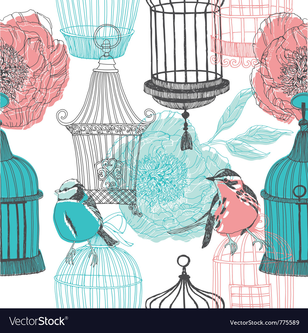 Birdcage screenprints vector | Price: 1 Credit (USD $1)
