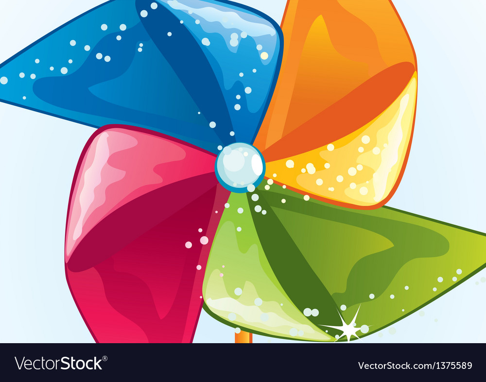 Cartoon windmill propeller vector | Price: 1 Credit (USD $1)