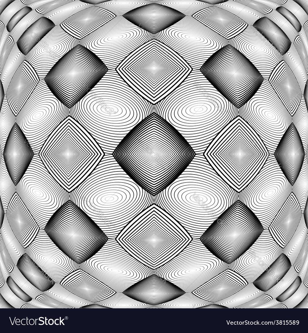 Design warped monochrome geometric diamond pattern vector | Price: 1 Credit (USD $1)