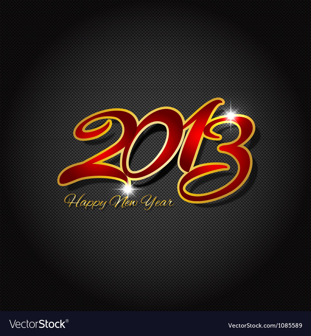 Happy new year on carbon fibre 1511 vector | Price: 1 Credit (USD $1)