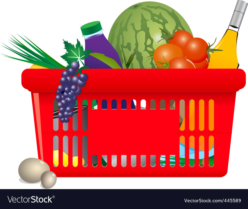 Healthy shopping cart vector | Price: 3 Credit (USD $3)