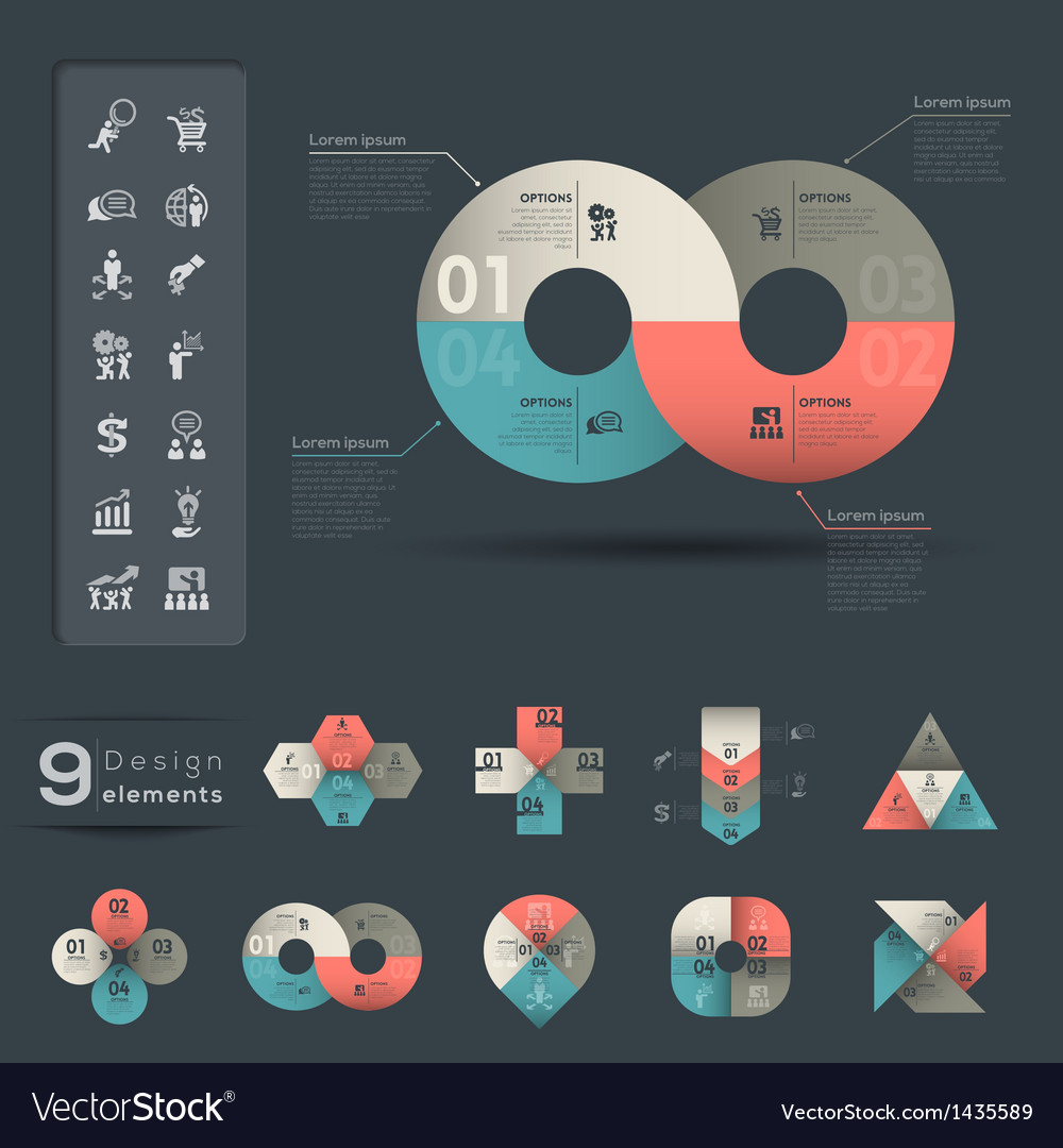 Infographic design element template vector | Price: 1 Credit (USD $1)