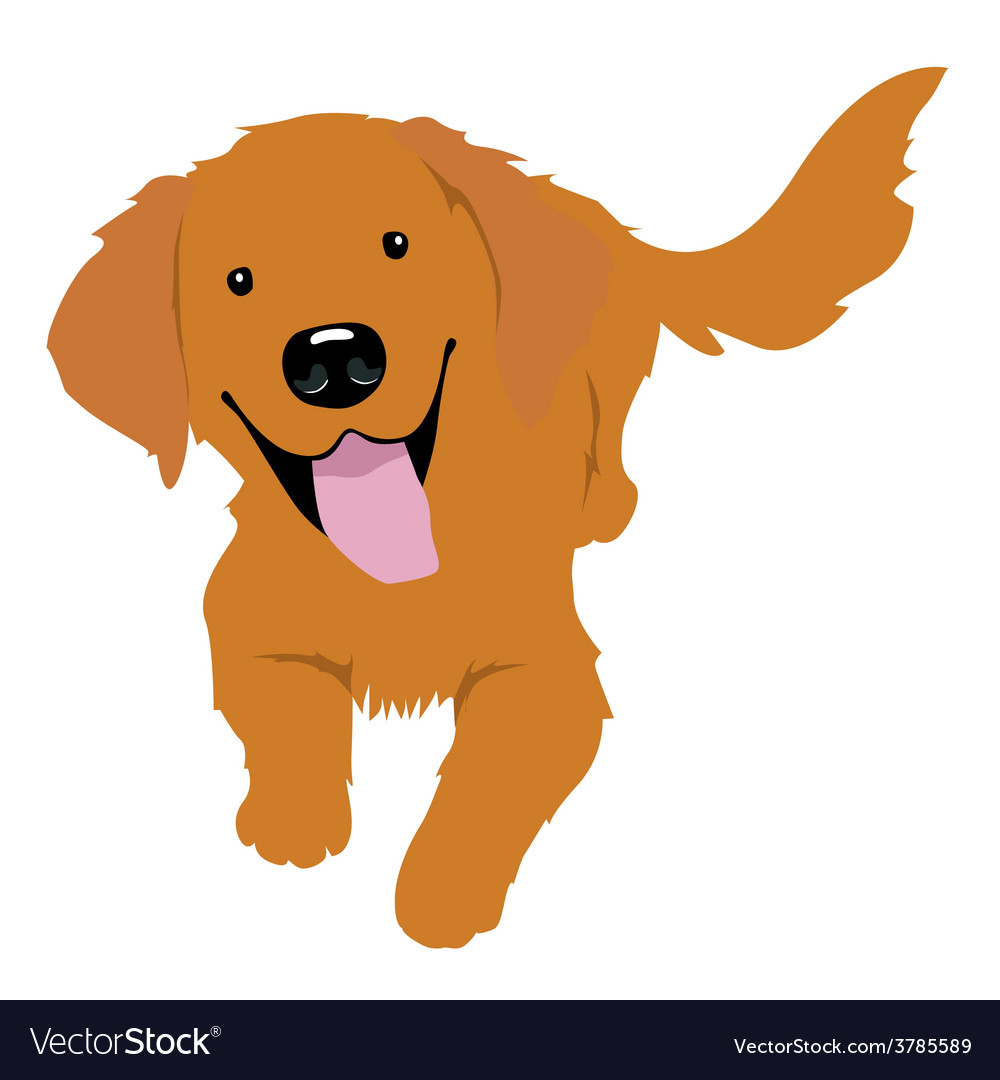 Little golden retriever vector | Price: 1 Credit (USD $1)