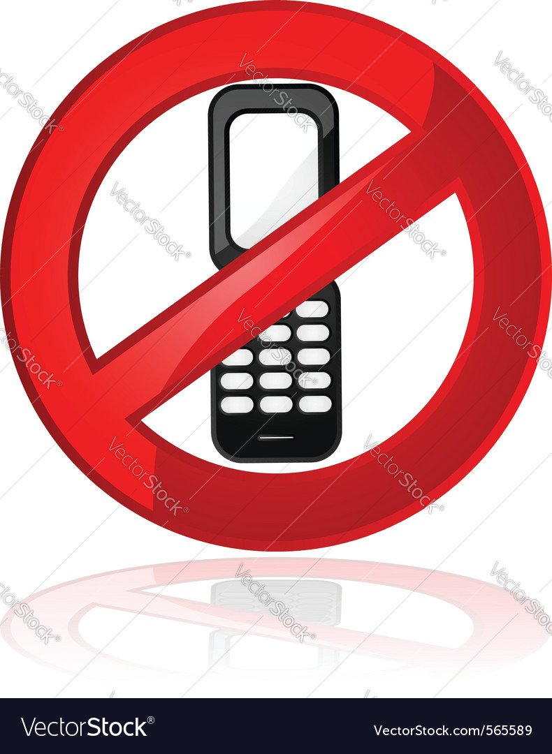 No cell phones vector | Price: 1 Credit (USD $1)