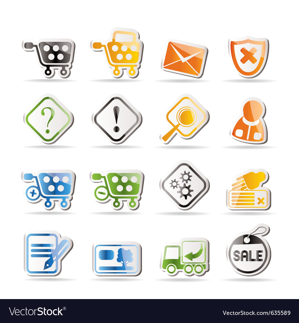 Online shop icons - icon set vector | Price: 1 Credit (USD $1)