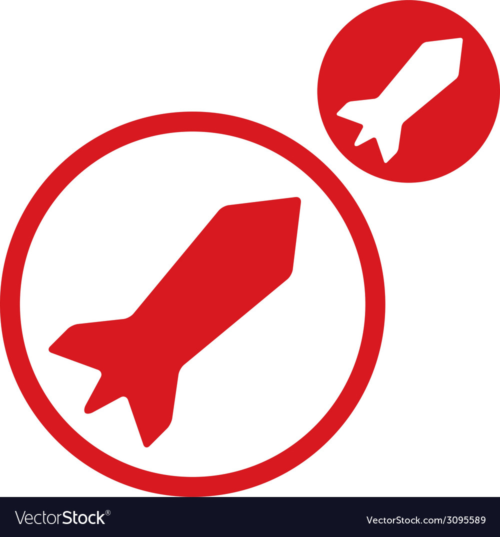 Rocket simple single color icon isolated on white vector | Price: 1 Credit (USD $1)