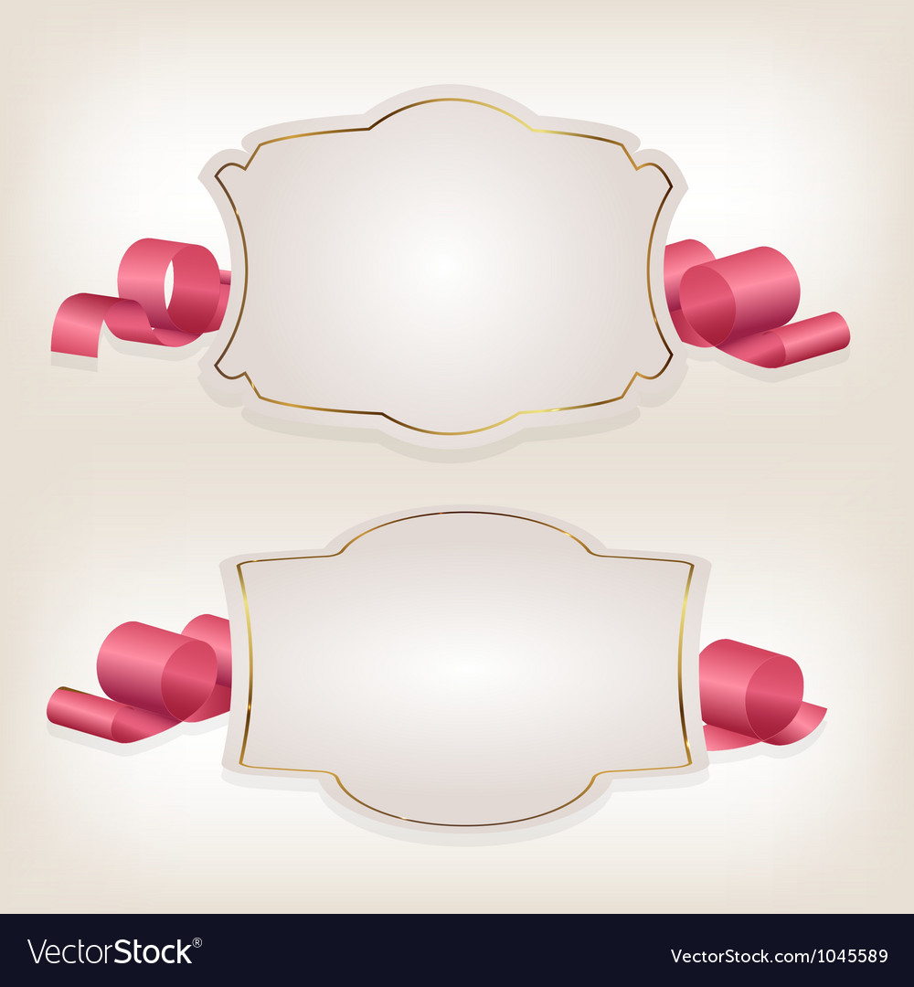 Romantic label with ribbon vetor vector | Price: 1 Credit (USD $1)