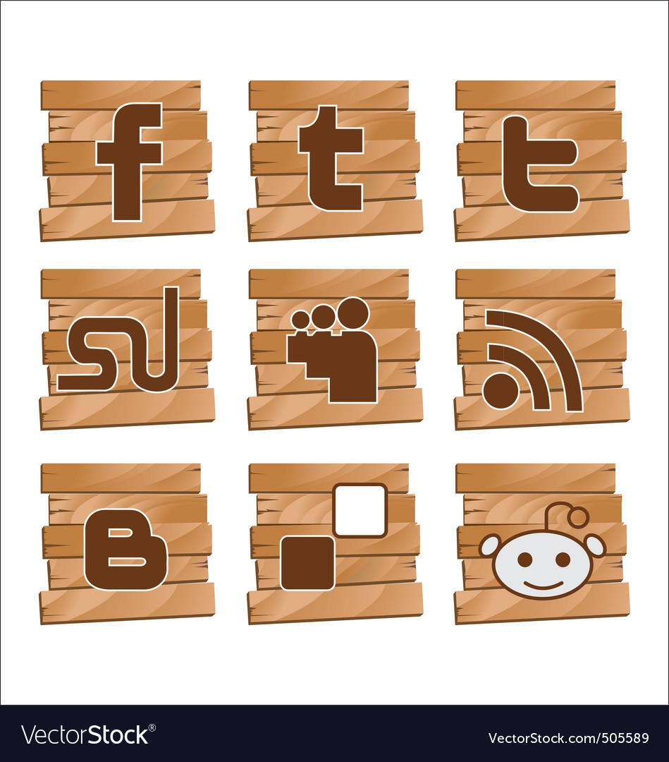 Social bookmark signs vector | Price: 1 Credit (USD $1)