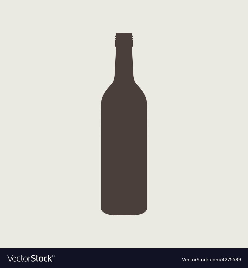 Wine bottle sign set bottle icon vector   Price: 1 Credit (USD $1)