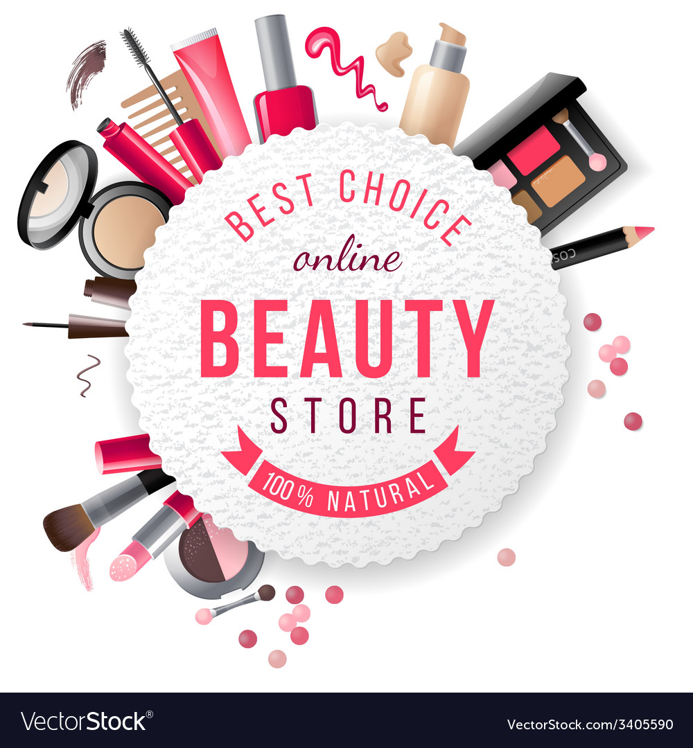 Beauty store emblem vector | Price: 3 Credit (USD $3)