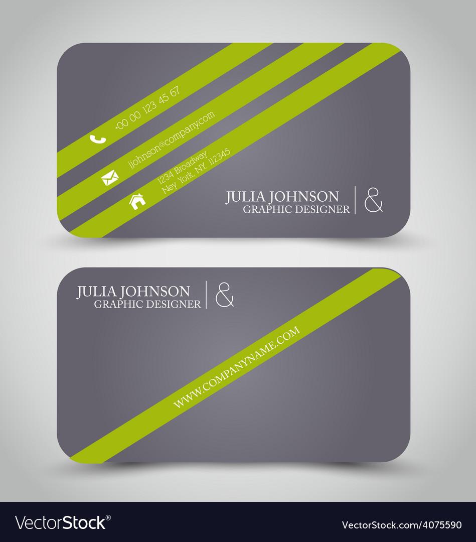 Business card design set template vector | Price: 1 Credit (USD $1)