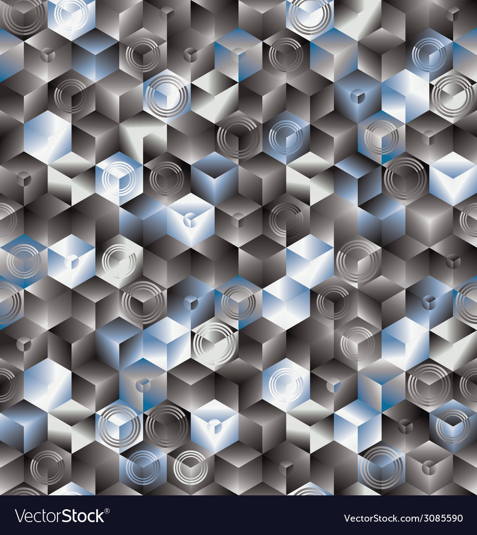 Cubes seamless pattern background vector | Price: 1 Credit (USD $1)