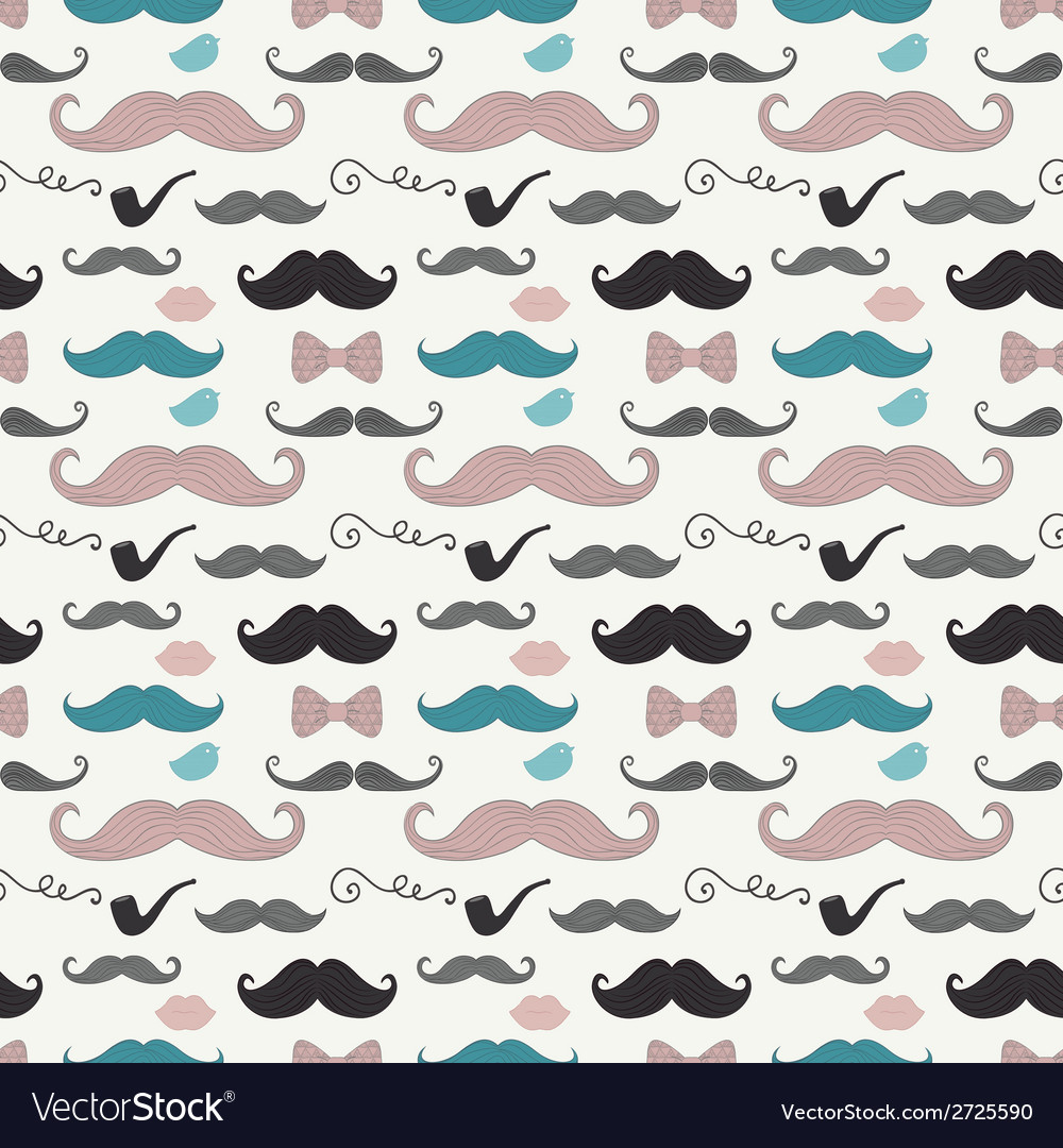 Hipster retro vintage doodle seamless pattern vector | Price: 1 Credit (USD $1)