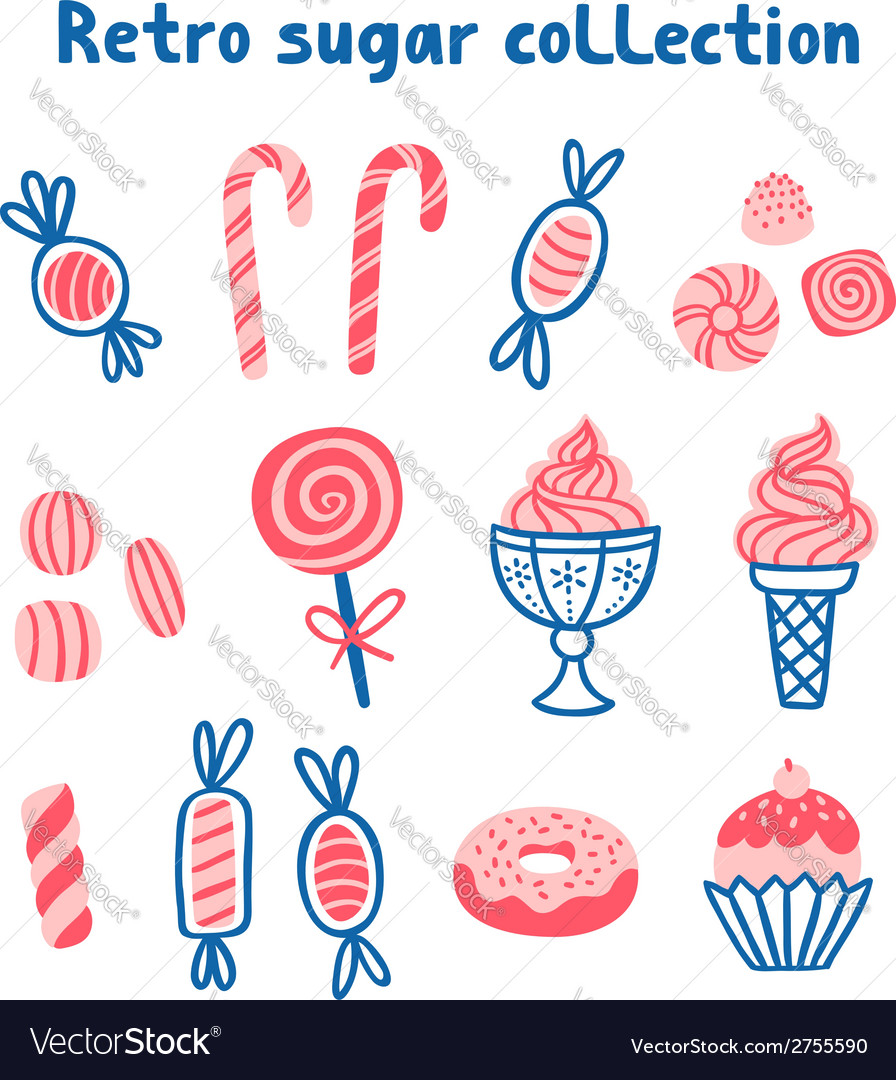 Retro sugar collection vector | Price: 1 Credit (USD $1)