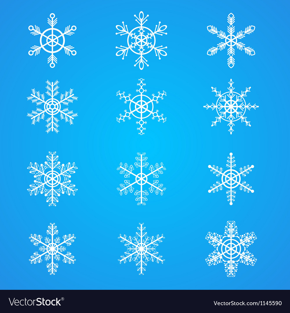 Snowflakes collection element for design vector   Price: 1 Credit (USD $1)