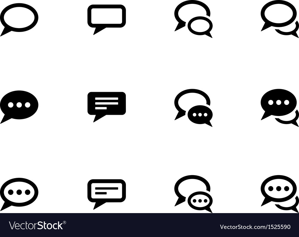 Speech bubble icons on white background vector | Price: 1 Credit (USD $1)
