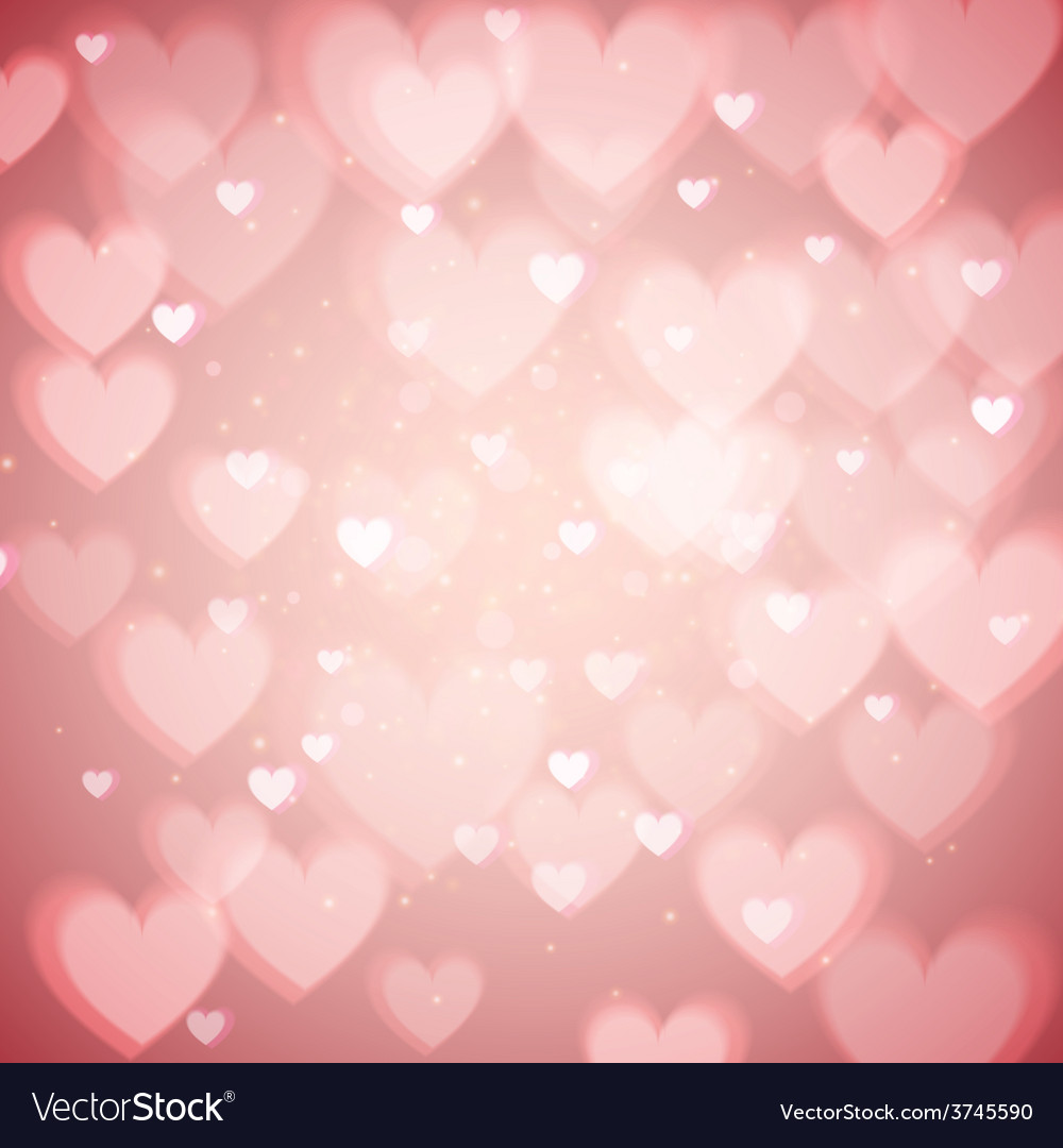 St valentines day abstract background with hearts vector | Price: 1 Credit (USD $1)