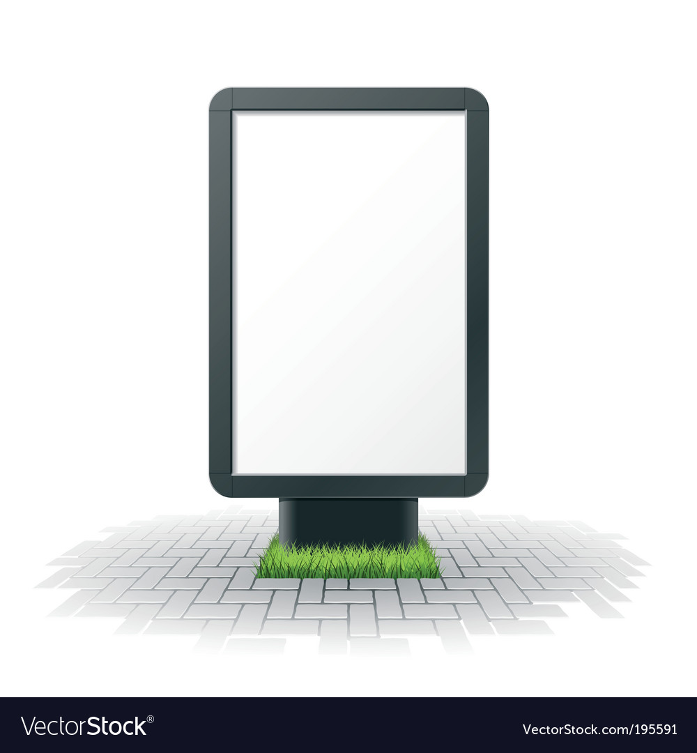 Blank billboard vector | Price: 3 Credit (USD $3)