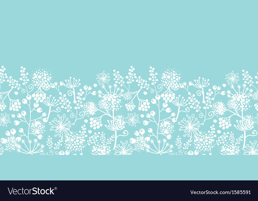 Blue and white lace garden plants horizontal vector | Price: 1 Credit (USD $1)