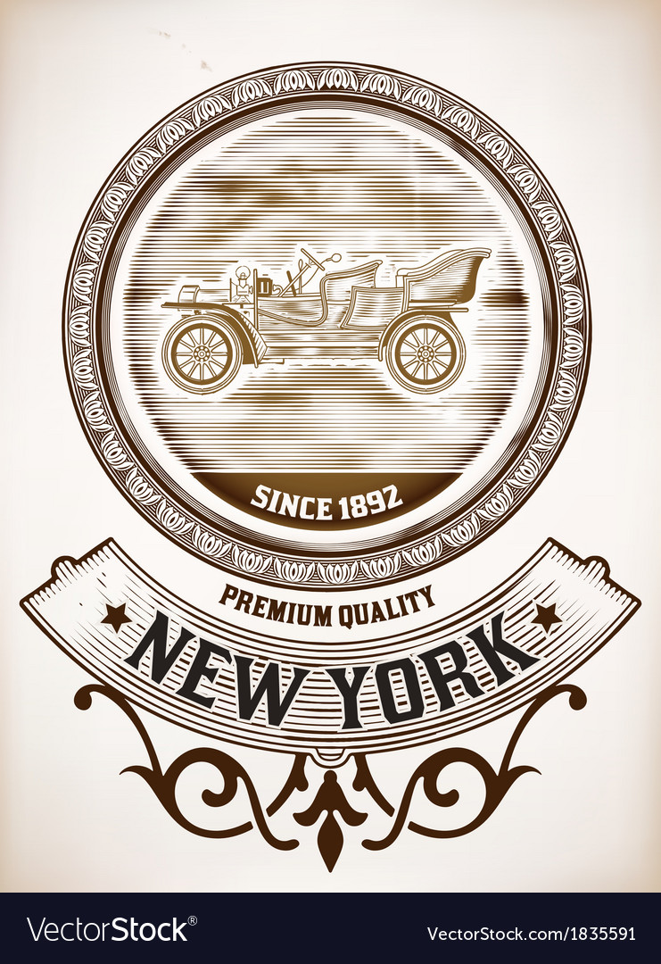 Old car design vector | Price: 1 Credit (USD $1)